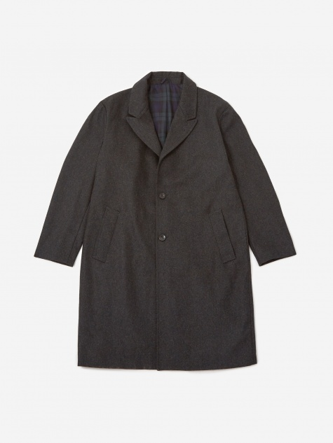Kawano Wool Overcoat - Black