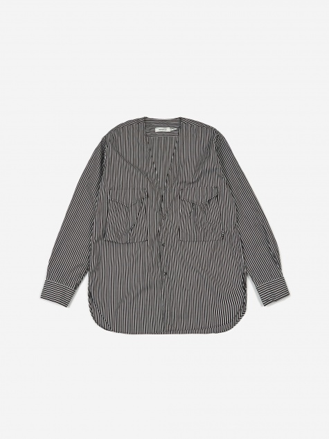 Carpenter Shirt Jacket Typewriter Cotton Chalk Stripe