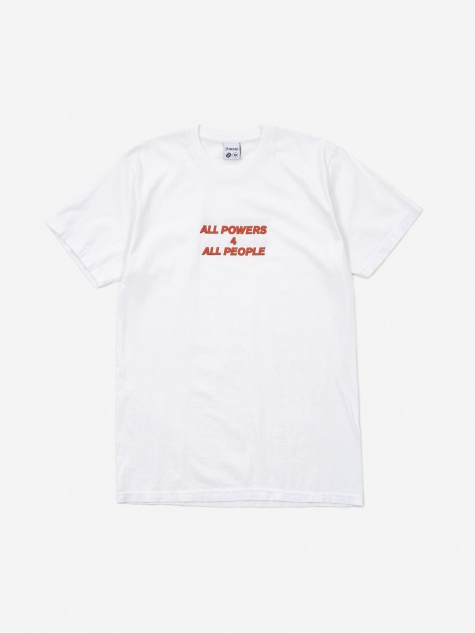 All Powers For Shortsleeve T-Shirt - White