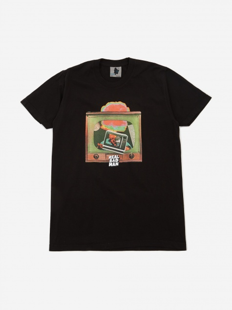 Atomic Television Shortsleeve T-Shirt - Black