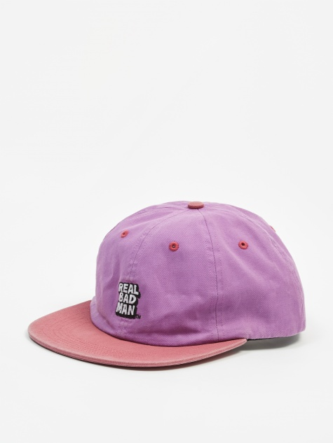 Washed Out 6 Panel Cap - Purpink