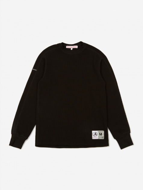 Thermal Longsleeve T-Shirt - Black