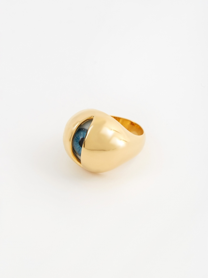 Undercover Eyeball Ring (UCX4R01-1) - Gold (Image 1)