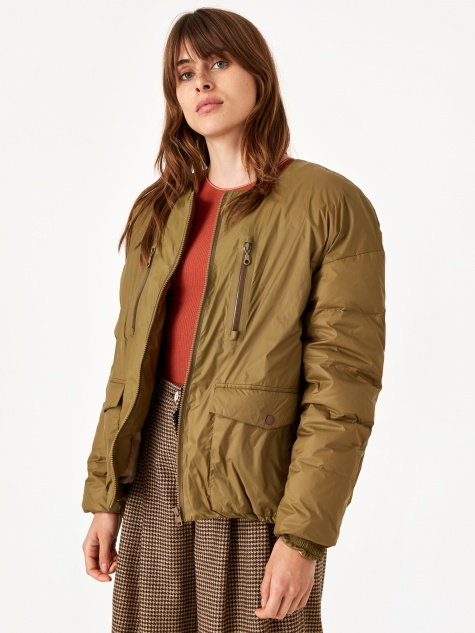 No Collar Down BZ Jacket Jacket - Camel