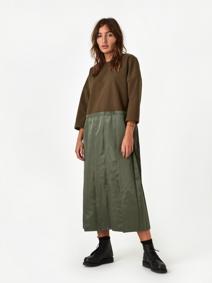 F/CE Switching One Piece Dress - Olive (Image 1)