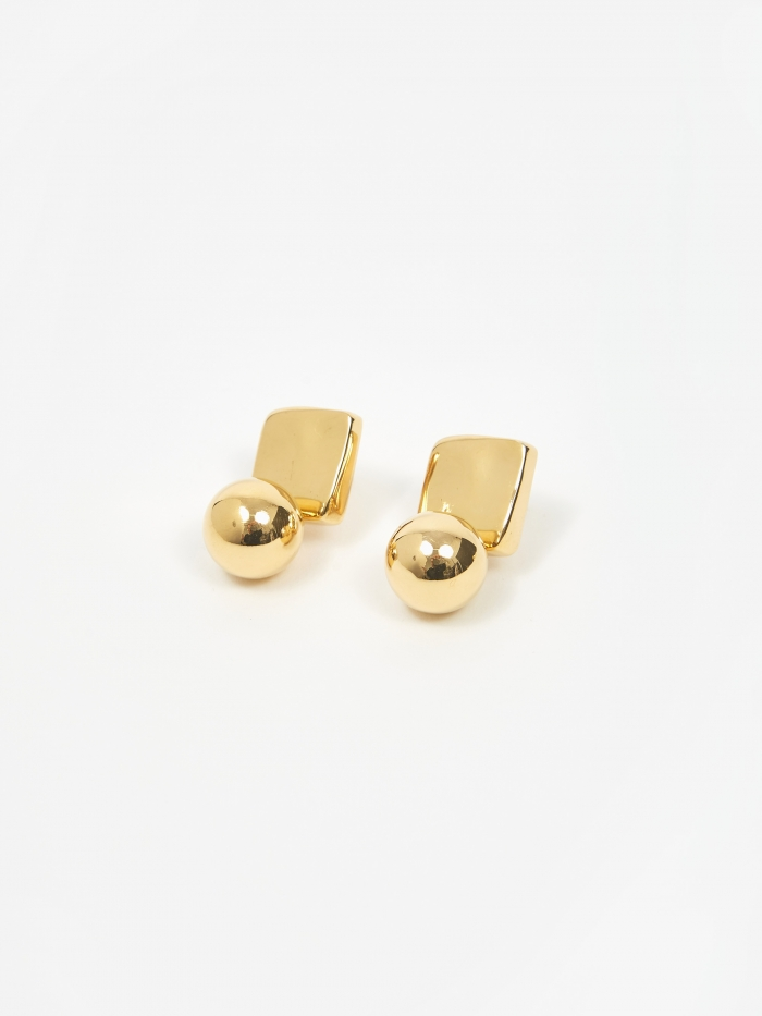AGMES Luca Earrings - Gold Vermeil (Image 1)