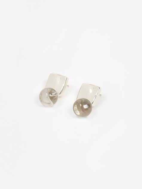 Luca Earrings Quartz - Sterling Silver