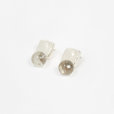 AGMES Luca Earrings Quartz - Sterling Silver