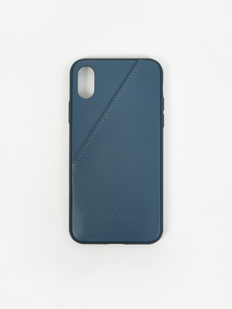 Clic Card iPhone Xs Case - Navy