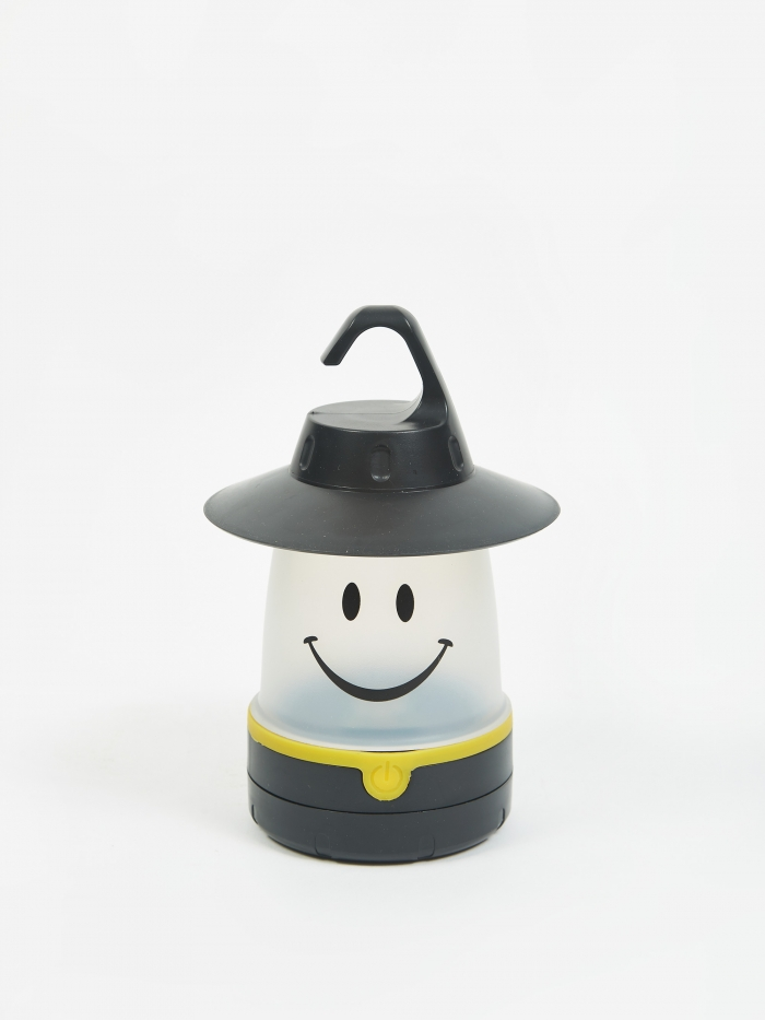 Time Concept, Inc. Smile LED Lantern - Black (Image 1)