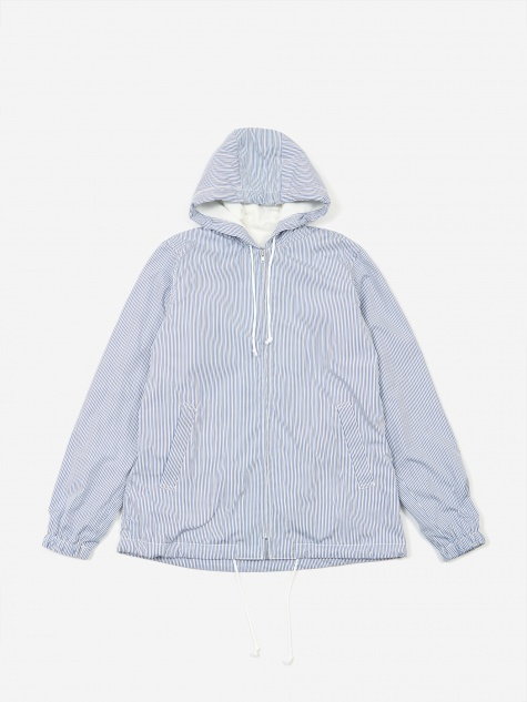 Fleece Lined Hooded Jacket - Stripe