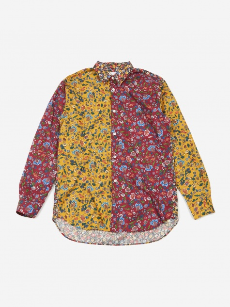 Cotton Poplin Floral Mix Print Shirt