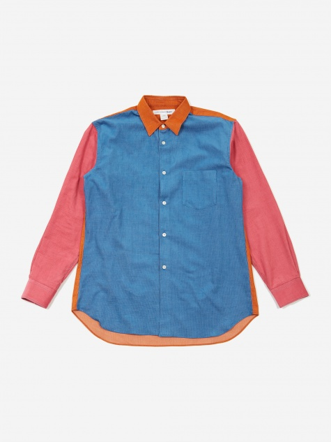Cotton Babycord Colour Block Shirt (W270