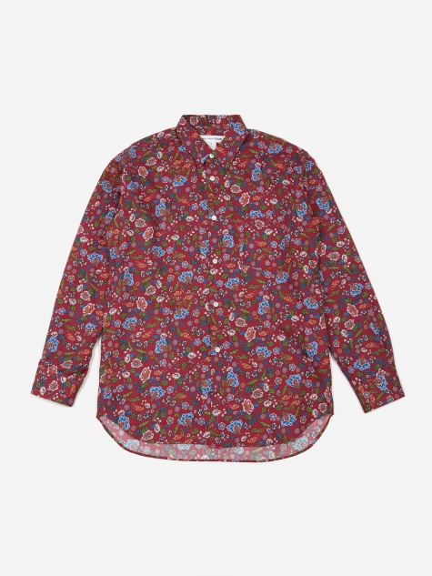 Cotton Poplin Floral Print Shirt