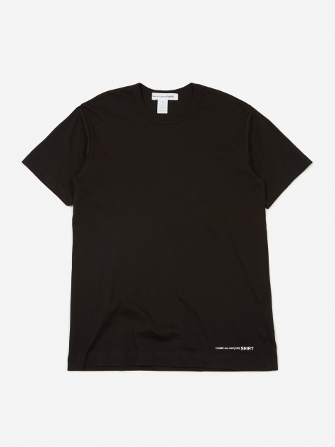 Front Logo Shortsleeve T-Shirt - Black