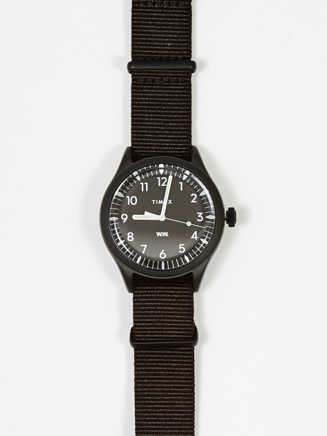x Timex Waterbury 38mm Watch - Black/Black