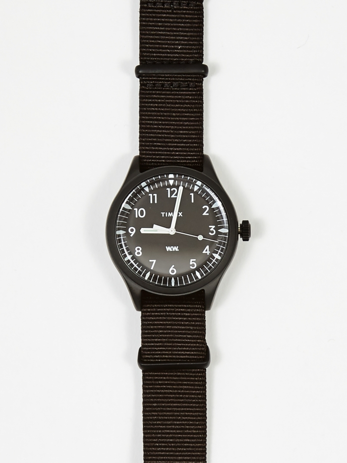 Wood Wood x Timex Waterbury 38mm Watch - Black/Black (Image 1)