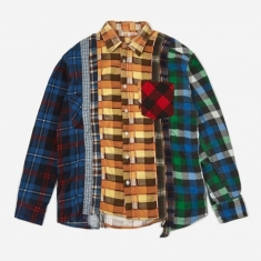 Needles Rebuild 7 Cuts Flannel Shirt Size Small 1 - Assorted