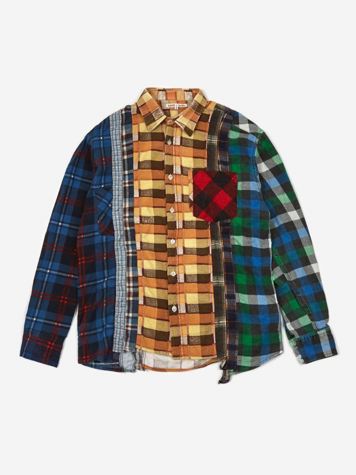 Needles Rebuild 7 Cuts Flannel Shirt Size Small 1 - Assorted (Image 1)