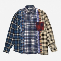 Needles Rebuild 7 Cuts Flannel Shirt Size Small 2 - Assorted