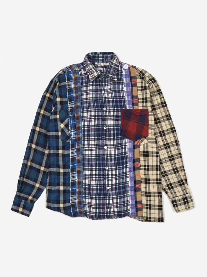 Needles Rebuild 7 Cuts Flannel Shirt Size Small 2 - Assorted (Image 1)