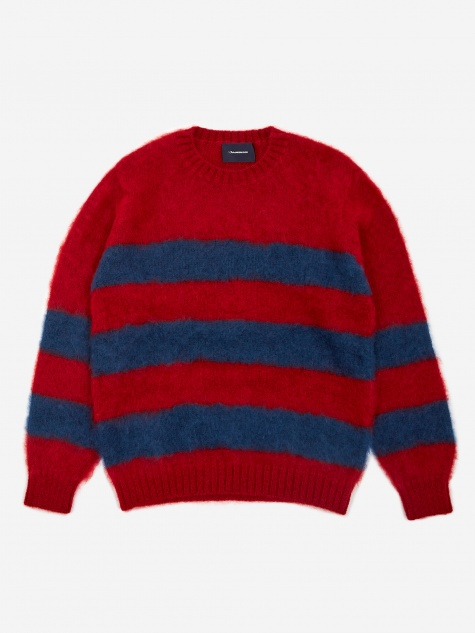 JohnUNDERCOVER Striped Knit Jumper (JUX4901-1) - Red Border