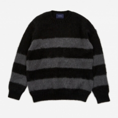 JohnUNDERCOVER Striped Knit Jumper (JUX4901-1) - Black Border