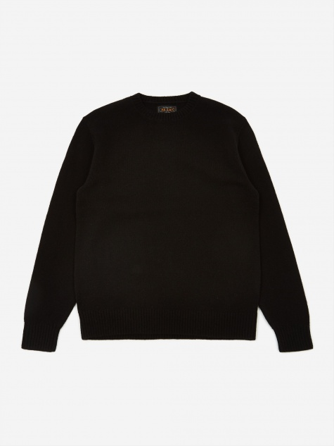 7G Crew Neck Jumper - Black