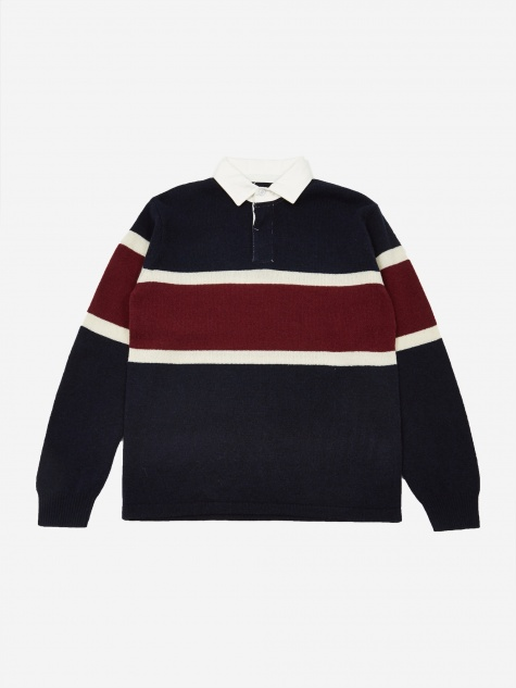 7G Rugger Knit Jumper - Navy