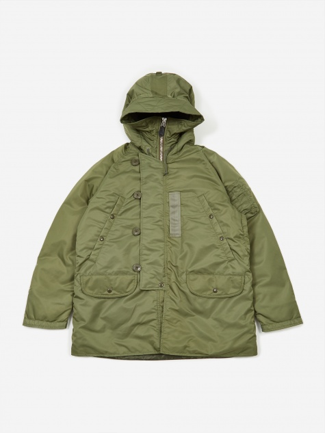N-3B Down Jacket - Olive/Orange
