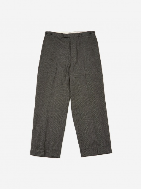 Wide Leg Wool Trouser - Grey