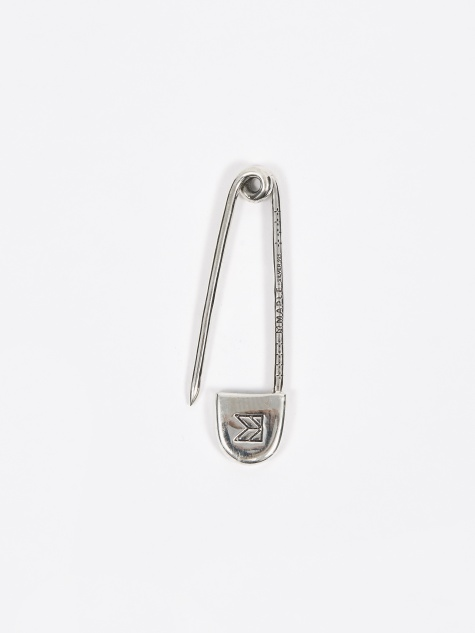 Safety Pin Pendant - Silver