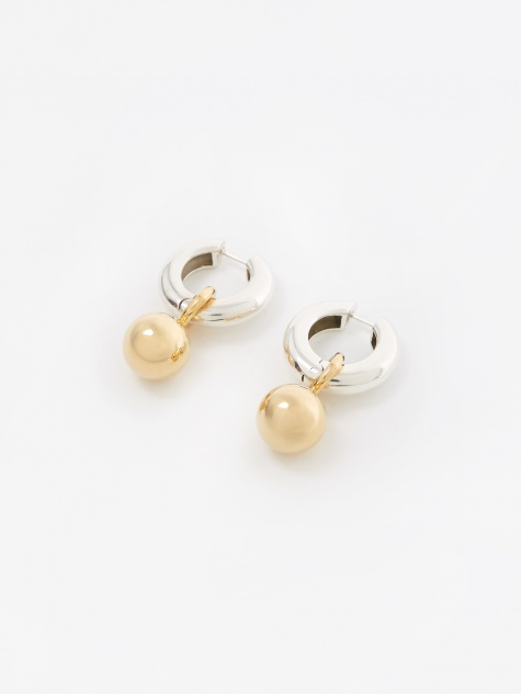 AGMES Sonia Earrings - Silver/Gold Vermeil