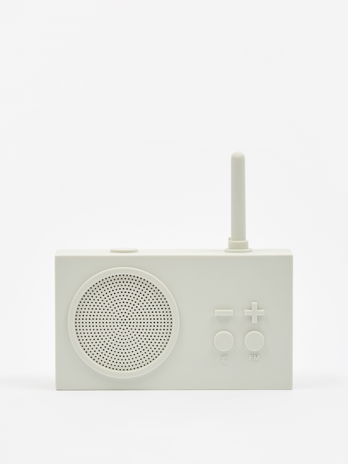 Lexon Tykho Wireless 3 FM Radio & Bluetooth Speaker - Off White (Image 1)