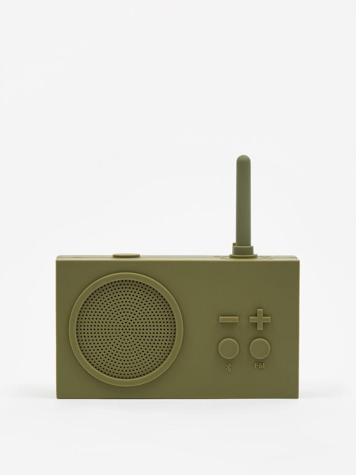 Lexon Tykho Wireless 3 FM Radio & Bluetooth Speaker - Khaki (Image 1)