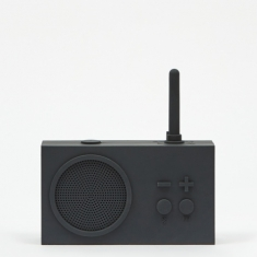 Lexon Tykho Wireless 3 FM Radio & Bluetooth Speaker - Dark Grey