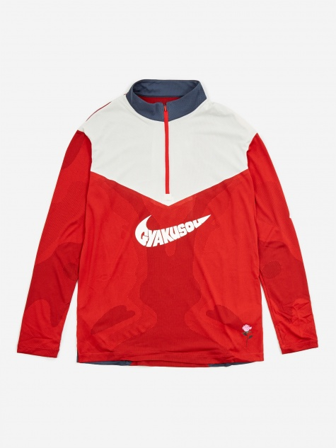 x Gyakusou NRG Longsleeve Top - Sport Red/Thunder Blue/Sail