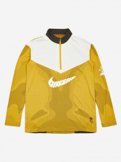x Gyakusou NRG Longsleeve Top - Mineral Yellow/Deep Pewter
