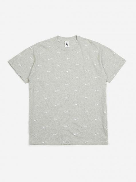 NRG Swoosh Logo T-Shirt - Grey Heather