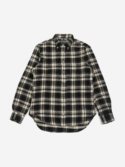 Button Down Longsleeve Shirt - Black Check