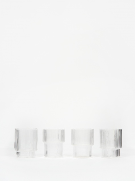 Ripple Small Glasses Set of 4 - Clear