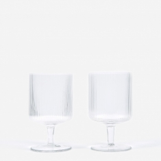 Ferm Living Ripple Wine Glasses Set of 2 - Clear