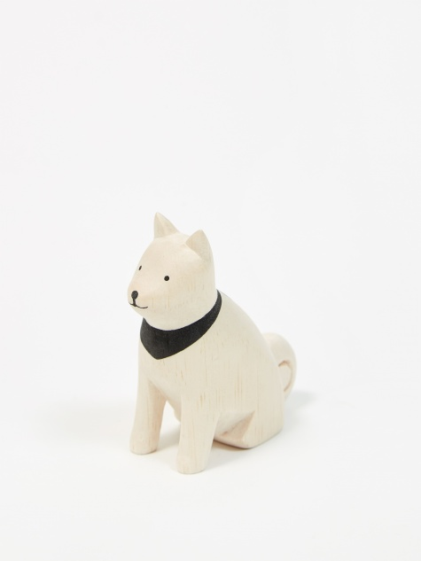 Pole Pole Wooden Animal - Akita Dog