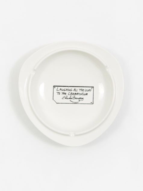 Laughing All The Way Ceramic Ashtray - White