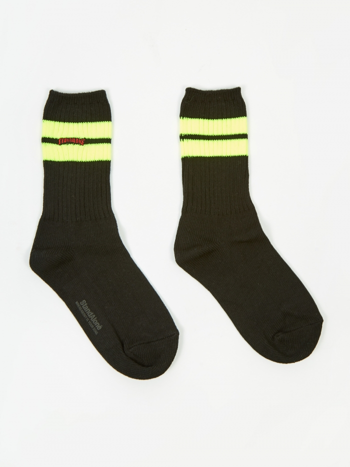 Stand Alone Sock - Yellow/Green (Image 1)