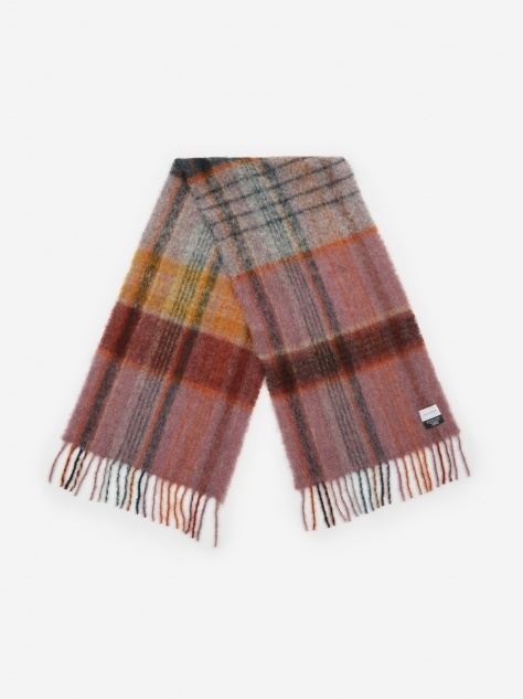 Fresia Check Scarf - Iron