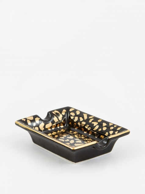 Leopard Ashtray (Type-1) - Black