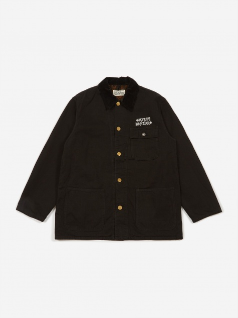 Denim Coverall A Jacket (Type 2) - Black