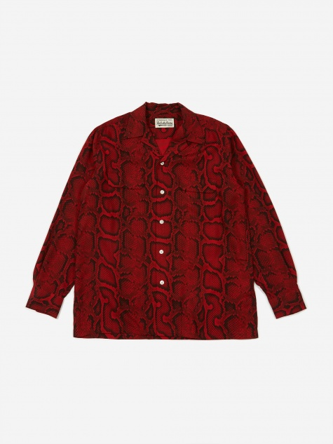 Hawaiian Longsleeve Shirt (Type 1) - Red