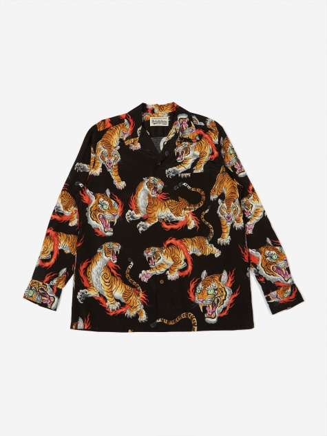 x Tim Lehi Longsleeve Hawaiian Shirt (Type 1) - Blac